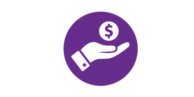 hand icon with dollar sign