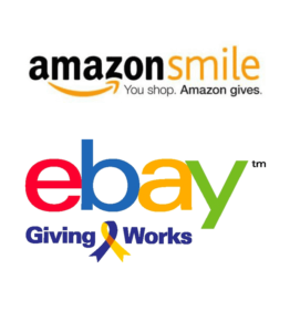 Amazon Smiles and ebay Giving Works logos
